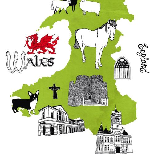 Maps Wales of Englad