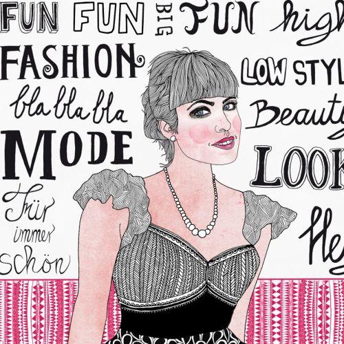 Fashion beauty look