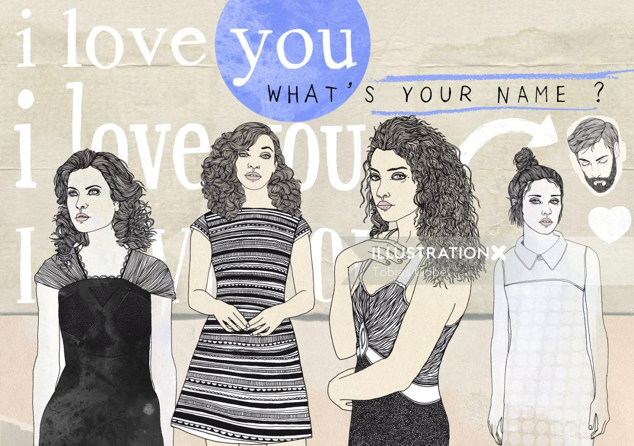 Beauty girls whats your name