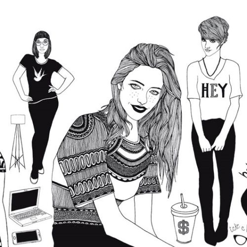Black & White beauty girls