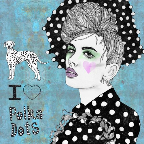 Pop I love polka dots
