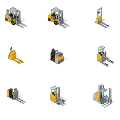 Forklift vector illustration