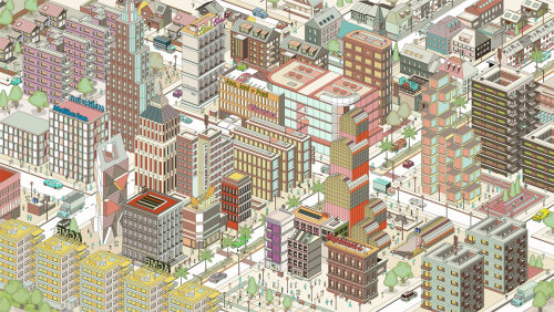 Infographic illustration of Buildings
