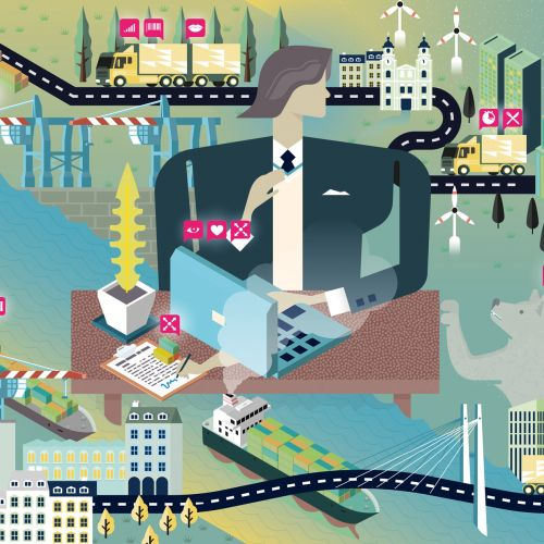 Shipping system vector illustration