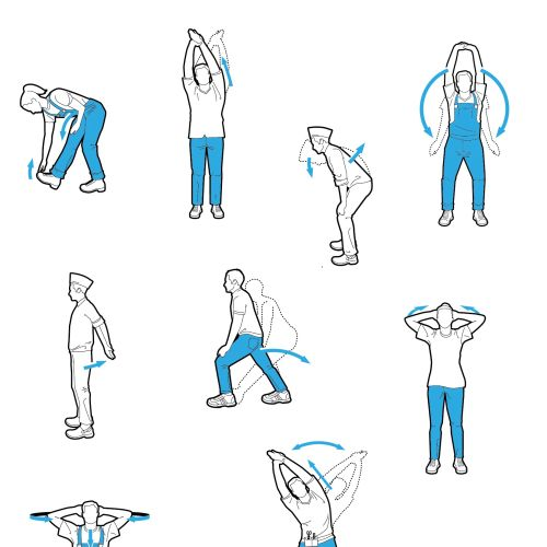 Physical fitness vector illustration