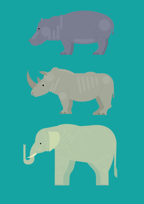 Animal vector illustration by Tobias Wandres