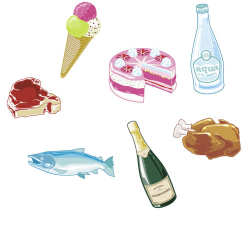 Food to avoid during Corona virus illustration