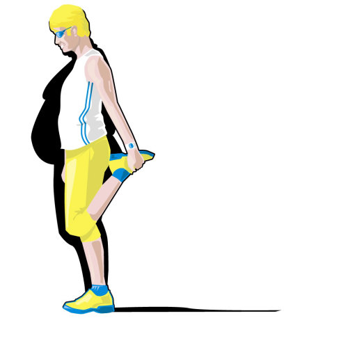 Man exercising illustration by Tobias Wandres
