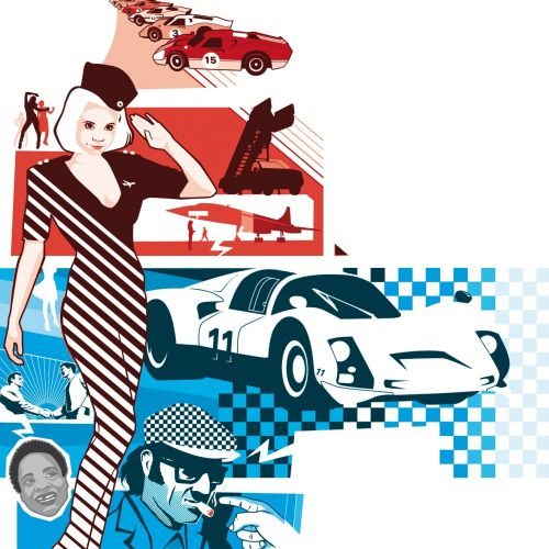 Collage of Fashion and cars