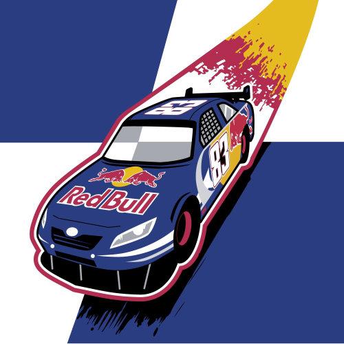 Graphic Redbull car
