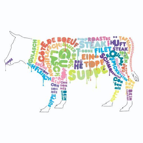 Lettering on animal