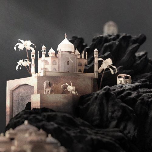 Illustration 3D du palais royal