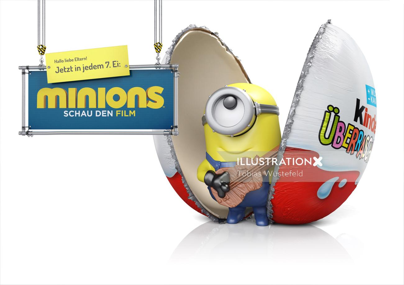 Cgi Illustration of Minions Schau den film