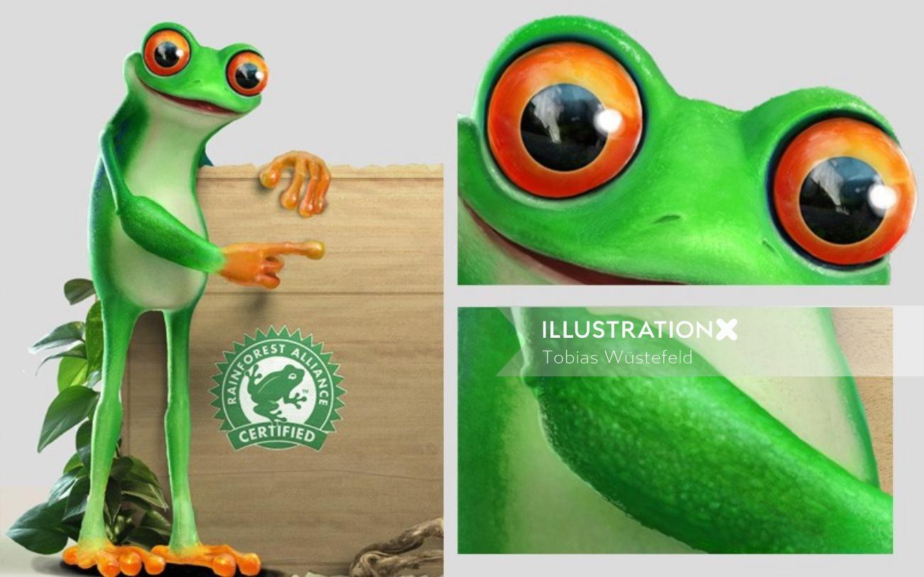 3d illustration for rain forest alliance