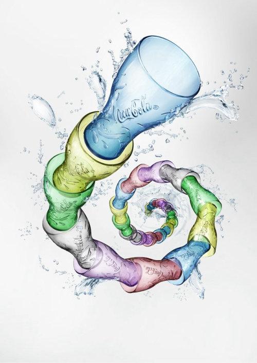 Illustration photoréaliste du verre de coca cola