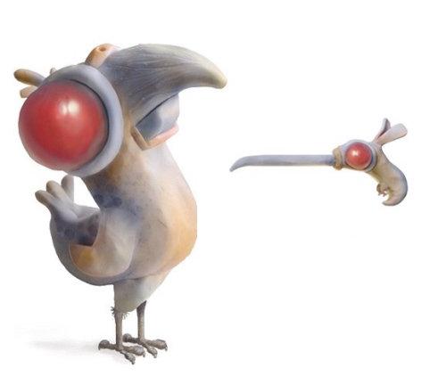 Conception des personnages de pigeons et de colombes