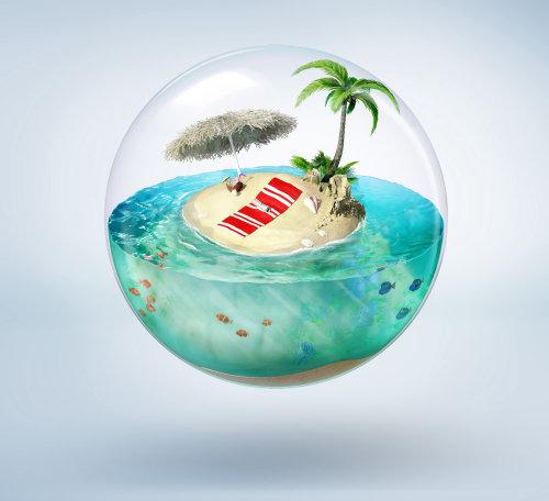 Illustration de la nature de Bubble Island