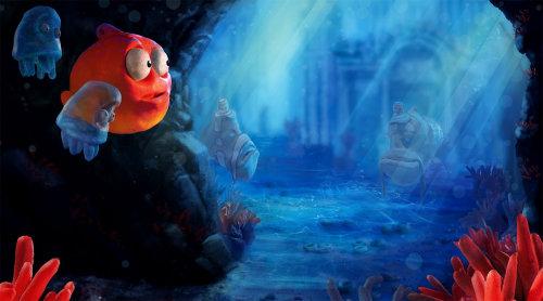 Illustration de dessin animé animaux sous-marins
