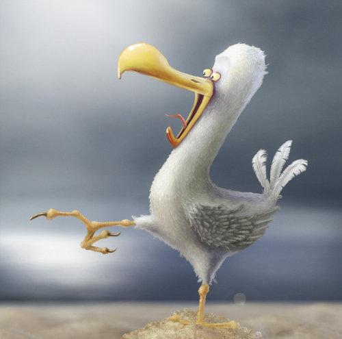 Illustration de caractère animal poulet