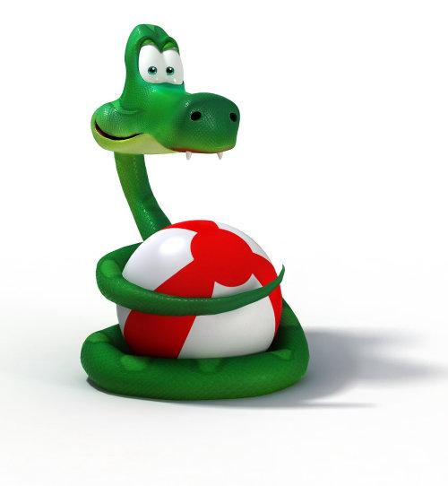 Conception de personnage animal de serpent