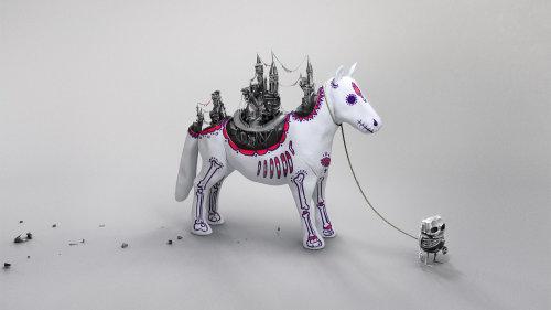 Illustration animale de jouet cheval