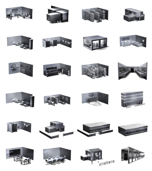 Architecture illustration of different houses
