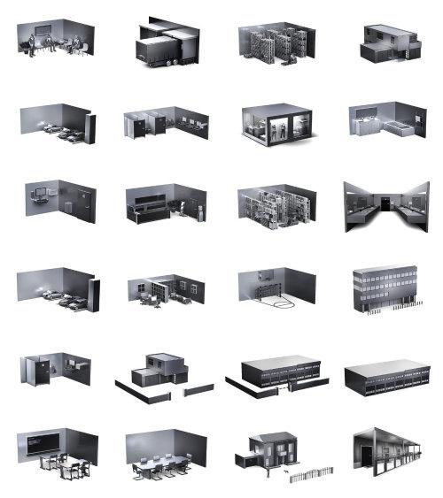 Illustration de l'architecture de différentes maisons
