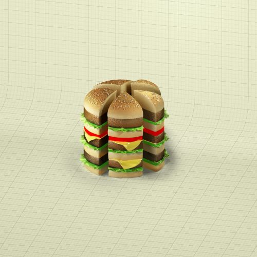 3d illustration of burger