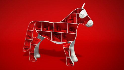 Illustration 3D de cheval jouet