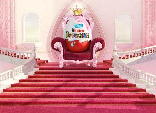 Cgi Illustration of king kinder chocolate