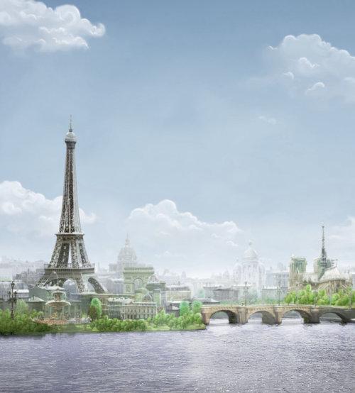 Illustration 3D de la tour Eiffile