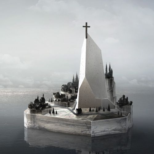 Cgi illustration of phantom island