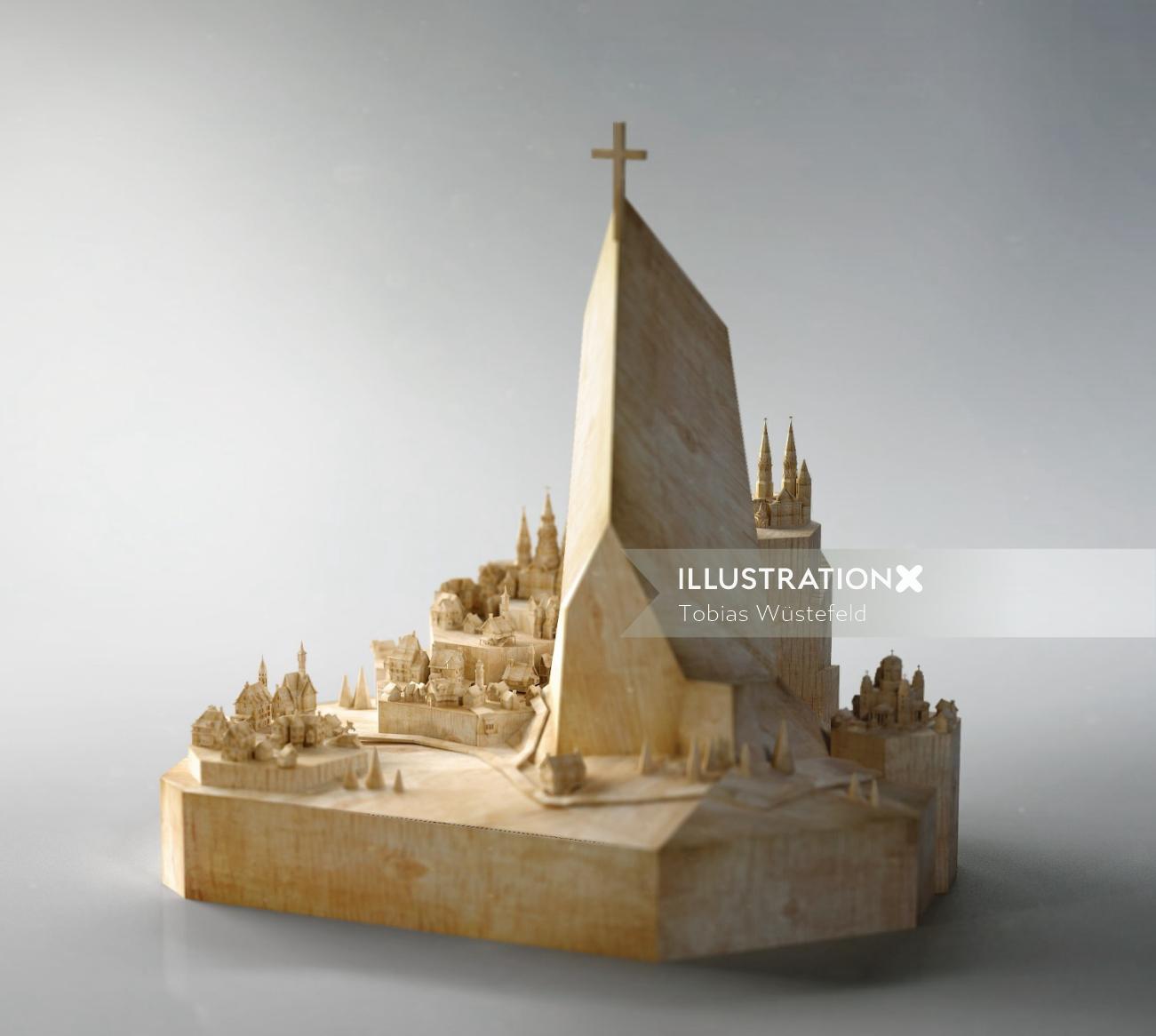 Wooden Phantom Island illustration