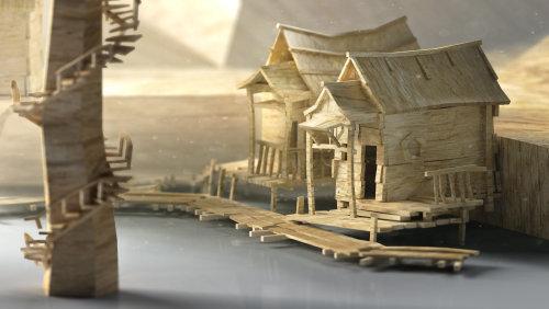 Illustration de maisons miniatures