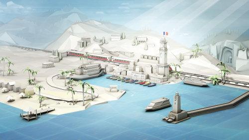 Illustration de l'architecture de la gare de Nizza