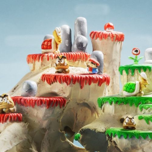 3d illustration of Super Mario Skulllevel