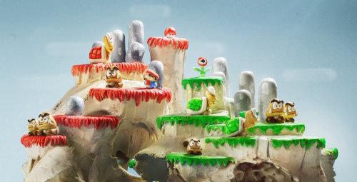 3d illustration of Super Mario Skulllevel