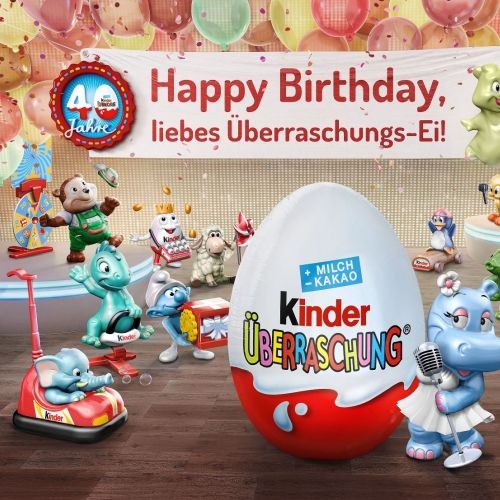 Illustration of happy birthday  Kinder Chocolate