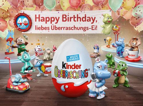 Illustration de joyeux anniversaire Kinder Chocolate