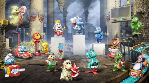 Character design of cartoon animals