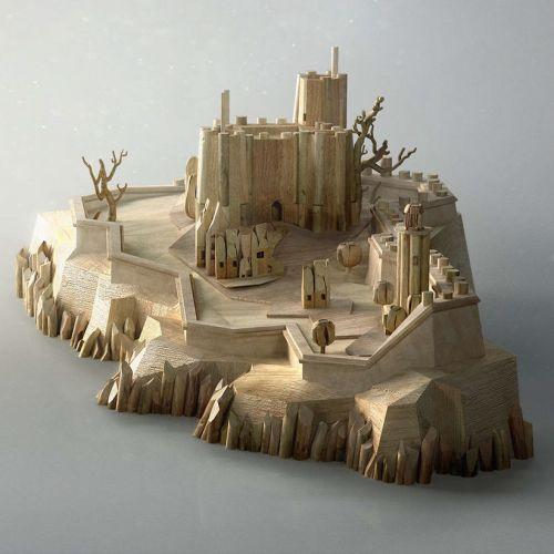 Architecture illustration of island