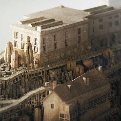 Wooden Version of Alcatraz illustration