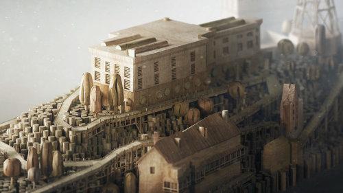 Illustration de la version en bois d'Alcatraz