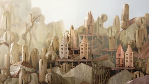 Prison Island architecture illustration