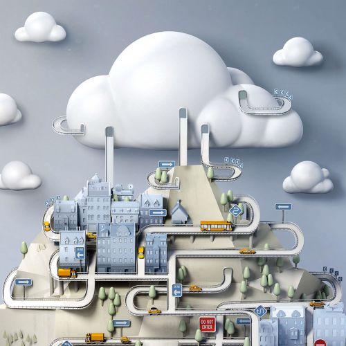 IBM cloud technical Illustration