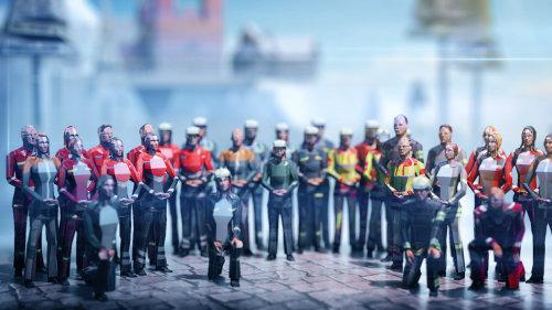 Conception de personnages 3D de coureurs