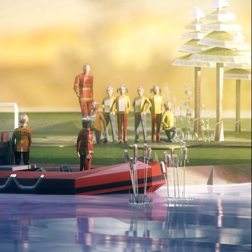 Cgi illustration of boating