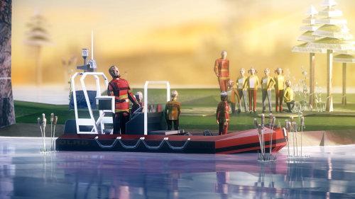 Illustration CGI de la navigation de plaisance