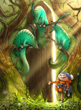 An Illustration of New Door Magic Forest