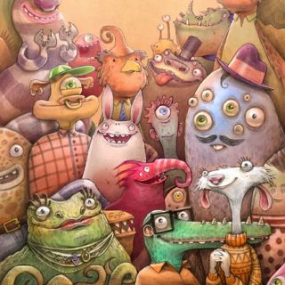 Monster Crowd Illustration By Tom Bonson
